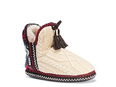 Muk Luks Amira Cable Knit Bootie Slipper
