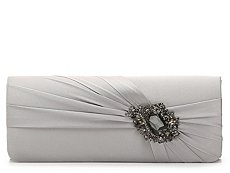 Lulu Townsend Ruched Brooch Clutch