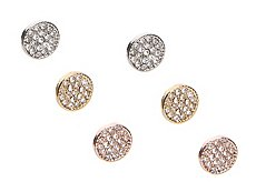 Precious Metals Stud Trio Earring Set