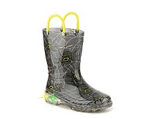 Western Chief Spider Prey Boys Toddler & Youth Light-Up Rain Boot