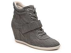 Gunmetal Bella Wedge Sneaker