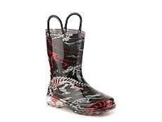 Western Chief Dino Fossils Boys Toddler & Youth Light-Up Rain Boot