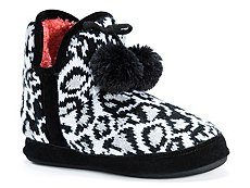 Muk Luks Pennley Leopard Bootie Slipper