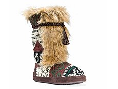Muk Luks Jewel Patterned Bootie Slipper
