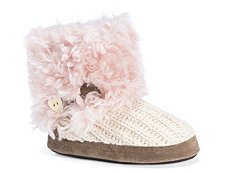 Muk Luks Patti Faux Fur Bootie Slipper