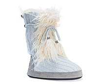 Muk Luks Jewel Faux Fur Bootie Slipper