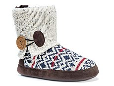 Muk Luks Patti Patterned Bootie Slipper