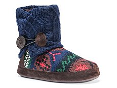 Muk Luks Patti Fairisle Bootie Slipper