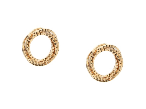 One Wink Gold Metallic Circle Stud Earrings Dsw