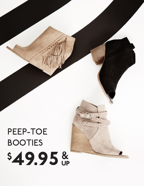 PEEP TOE BOOTIES