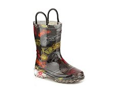 Western Chief Motorsports Boys Toddler & Youth Light-Up Rain Boot