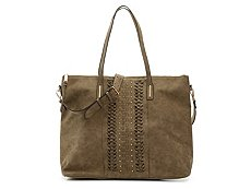 Violet Ray Woven Studded Tote