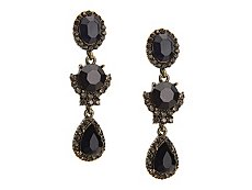 Monochrome Crystal Drop Earrings