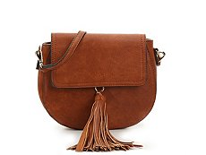 Madison West Saddle Fringe Crossbody Bag