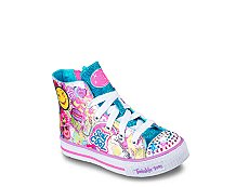 Skechers Twinkle Toes Shuffles Girls Toddler & Youth High-Top Light-Up Sneaker