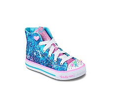 Skechers Studded Steps Girls Toddler & Youth High-Top Light-Up Sneakers