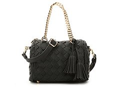 Madison West Woven Tassel Crossbody Bag