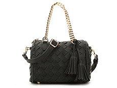 Madison West Woven Tassel Crossbody Bag