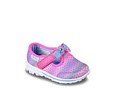 Skechers GoWalk Geo Girls Toddler Slip-On Sneaker