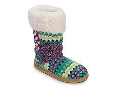 Dearfoams Tall Patchwork Boot Slipper