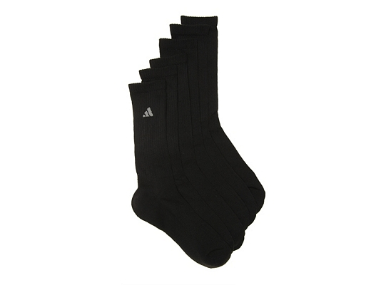 adidas climalite Compression Mens Crew Socks - 6 Pack