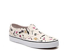 Vans Asher Printed Slip-On Sneaker - Womens