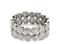 One Wink Silver Round Circle Stretch Bracelet