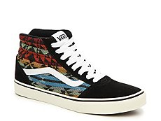 Vans Ward Hi Suede High-Top Printed Sneaker - Mens