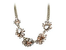 Large Flower Cluster Bib Necklace