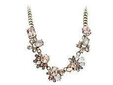 Small Flower Cluster Bib Necklace