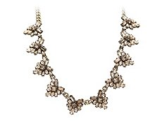 Crystalk Cluster Bib Necklace