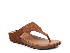 FitFlop Banda Perf Nubuck Wedge Sandal