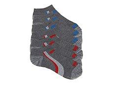 Puma Marled Color Stripe Boys No Show Socks - 6 Pack