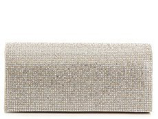 Lulu Townsend All Over Rhinestone Flap Clutch
