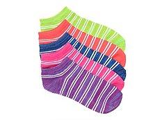 Mix No. 6 Striped Womens No Show Socks - 5 Pack