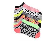 Mix No. 6 Animal Print Womens No Show Socks - 6 Pack