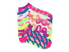 Mix No. 6 Sweets Womens No Show Socks - 6 Pack