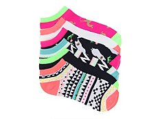 Mix No. 6 Lllama & Camel Womens No Show Socks - 6 Pack