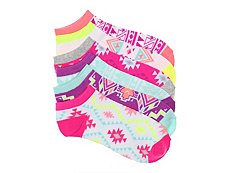 Mix No. 6 Tribal Print Womens No Show Socks - 6 Pack