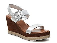 Italian Shoemakers Metallic Strap Wedge Sandal