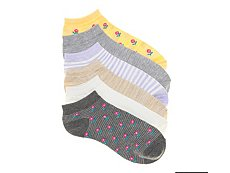 Kelly & Katie Floral Womens No Show Socks - 6 Pack