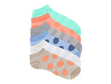 Kelly & Katie Mesh Dot Womens No Show Socks - 6 Pack
