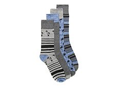 Lucky Brand Palm Mens Crew Socks - 4 Pack