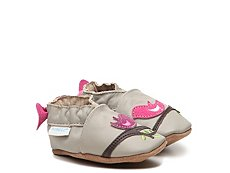 Robeez Tweeting Tessa Girls Infant & Toddler Slip-On Crib Shoe