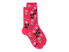 Hot Sox Dog Bark Womens Crew Socks