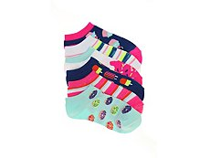 Olive & Edie Sweets Girls No Show Socks - 6 Pack