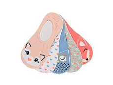 Olive & Edie Animals Girls No Show Liners - 5 Pack