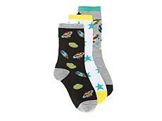 Max + Jake Space Boys Crew Socks - 3 Pack