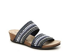 White Mountain Crescent Wedge Sandal