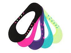 Olive & Edie Multi Dot Girls No Show Liners - 5 Pack